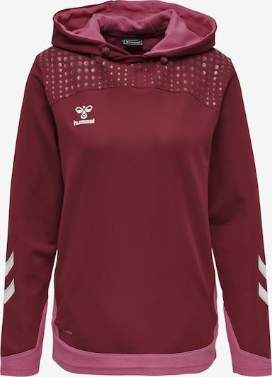 Hummel Sportsweatshirt 'Poly' in hellpink / dunkelrot / weiß, Produktansicht