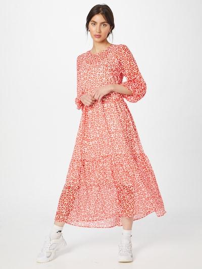 modström Kleid 'Lana' in blutrot / weiß, Modelansicht