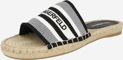 Karl Lagerfeld Mule 'KAMINI' en noir / blanc, Vue avec produit
