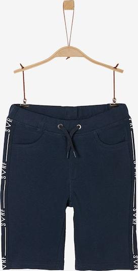 s.Oliver Shorts in dunkelblau / pastellgrün / weiß, Produktansicht