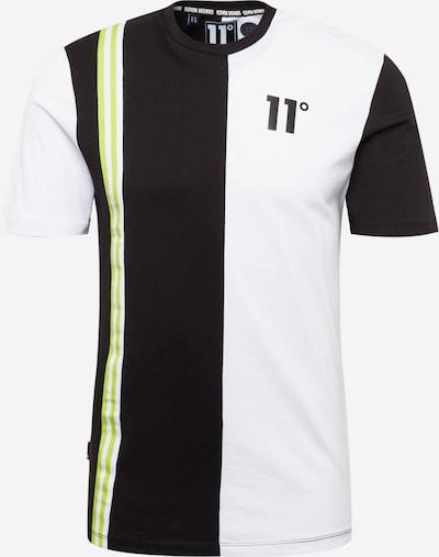 11 Degrees T-Shirt in hellgrün / schwarz / weiß, Produktansicht