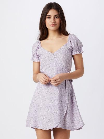 HOLLISTER Kleid in grau / lila / weiß, Modelansicht