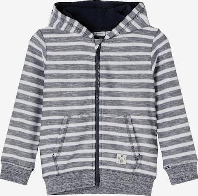 NAME IT Tepláková bunda - sivá / biela, Produkt