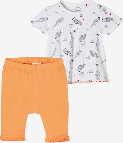 s.Oliver Set in de kleur Sinaasappel / Zwart / Wit, Productweergave