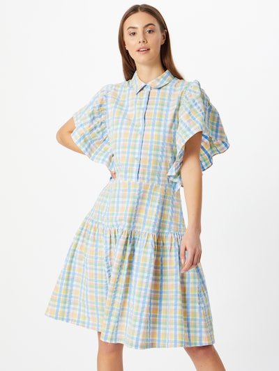 Stella Nova Kleid 'Paya' in hellblau / hellgelb, Modelansicht