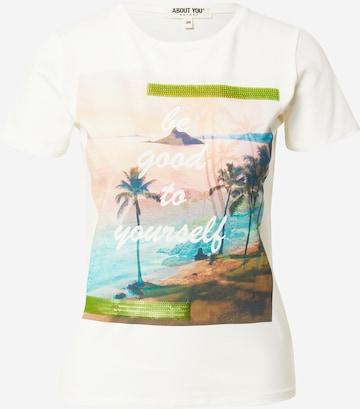 T-shirt 'Claude' ABOUT YOU en blanc