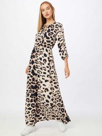VERO MODA Kleid 'ELLA' in ecru / hellbraun / schwarz, Modelansicht
