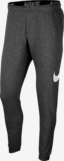 NIKE Спортен панталон в антрацитно черно / бяло, Преглед на продукта