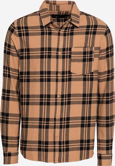 Cotton On Hemd in hellbraun / apricot / schwarz, Produktansicht