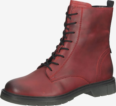bugatti Schnürstiefelette in rot / schwarz, Produktansicht