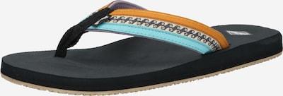 BILLABONG Claquettes / Tongs 'ALL DAY IMPACT' en sable / turquoise / noir / blanc, Vue avec produit