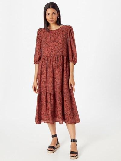 SELECTED FEMME Kleid 'VIOLE' in dunkelrot / schwarz, Modelansicht