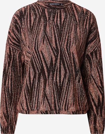 Rut & Circle Sweatshirt 'NINA' in rostrot / schwarz, Produktansicht