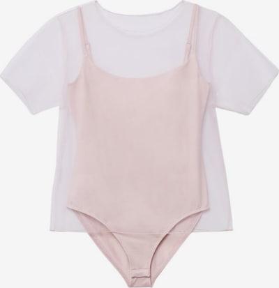 MANGO Bodysuit in Light pink / White, Item view