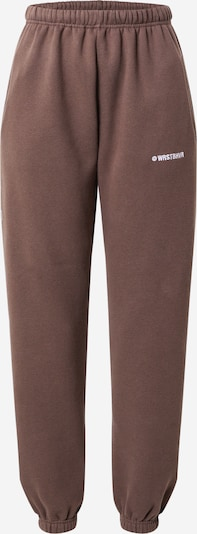 Worst Behavior Pantalon 'Faith' en chocolat / blanc, Vue avec produit