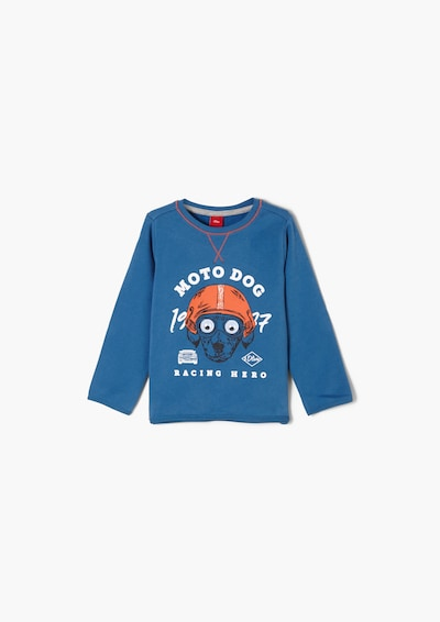 s.Oliver Sweatshirt in blau / mischfarben, Produktansicht