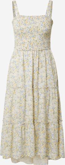 HOLLISTER Лятна рокла в светлосиньо / жълто / маслина / бяло, Преглед на продукта