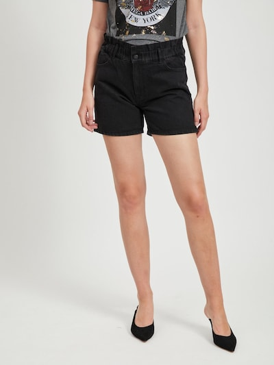 VILA Jeansshorts in schwarz, Modelansicht