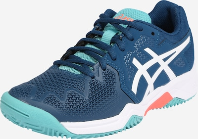 ASICS Sportschoen 'RESOLUTION 8' in de kleur Turquoise / Petrol / Wit, Productweergave