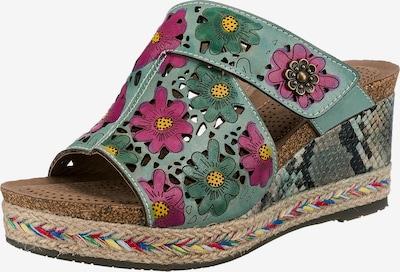 Laura Vita Pantolette in türkis / mischfarben, Produktansicht