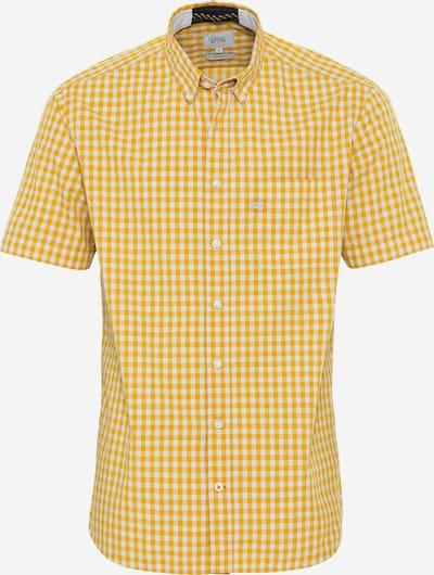 CAMEL ACTIVE Kurzarm Hemd aus reiner Baumwolle in gold / weiß, Produktansicht