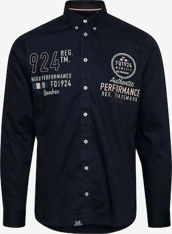 FQ1924 Langarmhemd in Blau