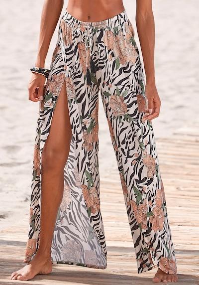 LASCANA Hose in beige / grün / apricot / schwarz, Modelansicht
