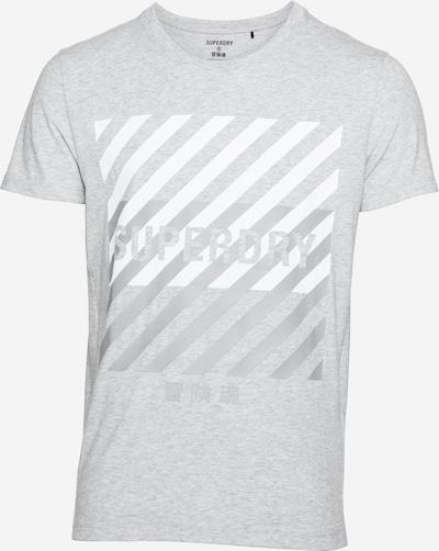 Superdry Funkcionalna majica | siva / svetlo siva / bela barva, Prikaz izdelka