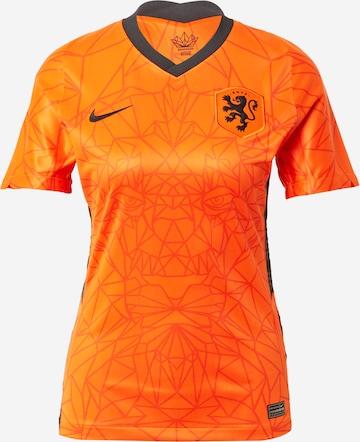 NIKE Spordisärk 'Netherlands 2020 Stadium Home', värv oranž