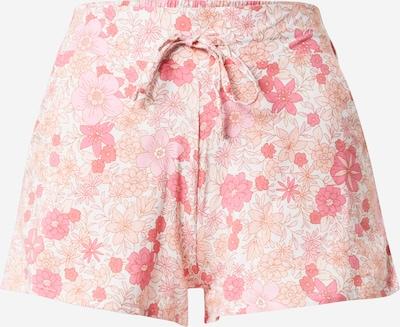 ETAM Pantalon de pyjama 'FATI' en crème / orange clair / rose / rose, Vue avec produit