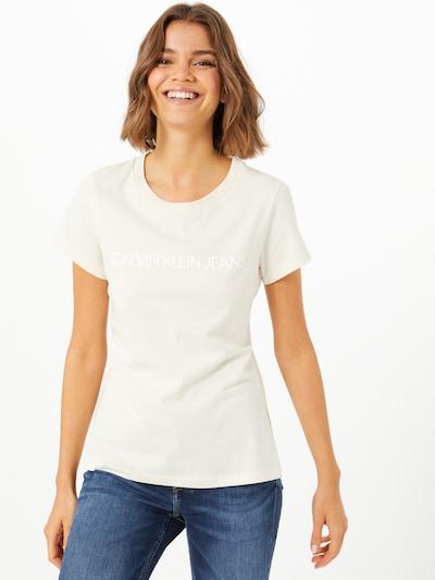 Calvin Klein Jeans Shirt in de kleur Beige, Modelweergave
