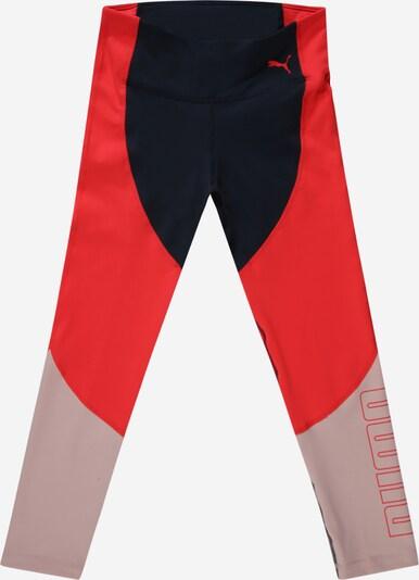 PUMA Leggings 'Runtrain 78' en bleu nuit / poudre / rouge, Vue avec produit