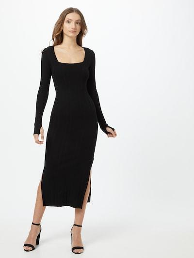 HUGO Úpletové šaty 'Sherlee' - černá, Model/ka
