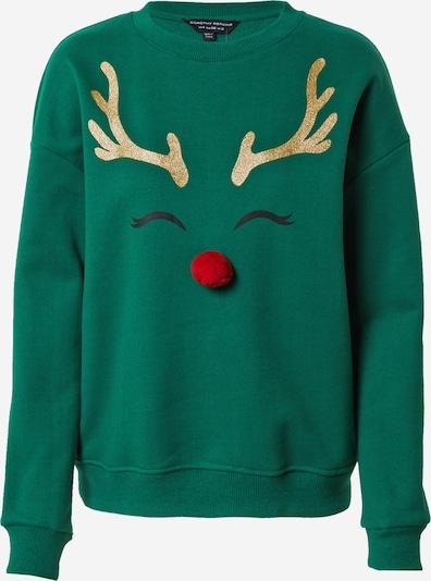 Dorothy Perkins Sweater majica 'LET IT SNOW' u zlatna / zelena / crvena, Pregled proizvoda