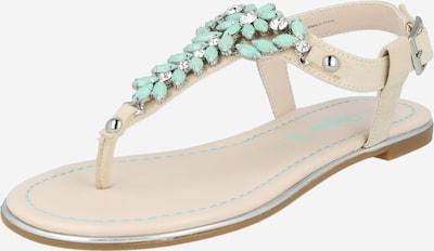 BUFFALO Sandale 'ROSALIE' in beige / mint, Produktansicht