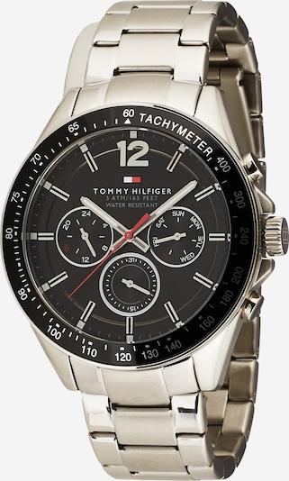 TOMMY HILFIGER Analoog horloge 'CASUAL QUARZ MULTIFUNKTION' in de kleur Zwart / Zilver, Productweergave