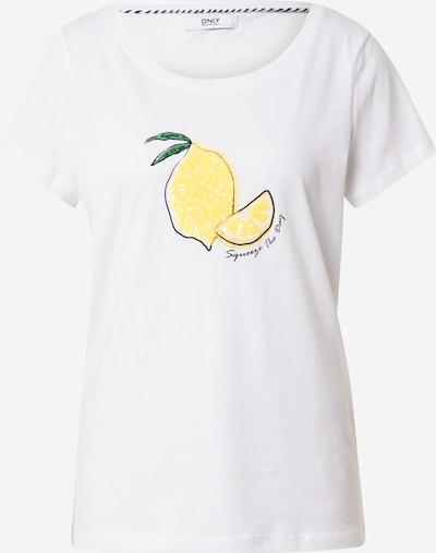 ONLY Shirt 'KITA' in de kleur Limoen / Groen / Zwart / Wit, Productweergave