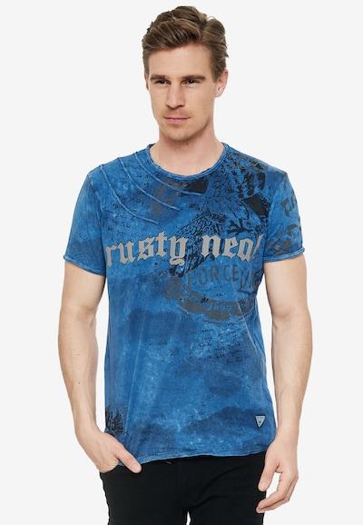 Rusty Neal T-Shirt mit zeitlosem Print in blau: Frontalansicht
