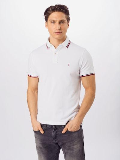 TOMMY HILFIGER T-Krekls 'TOMMY TIPPED SLIM POLO', krāsa - balts, Modeļa skats
