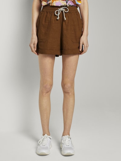 TOM TAILOR DENIM Shorts in braun, Modelansicht