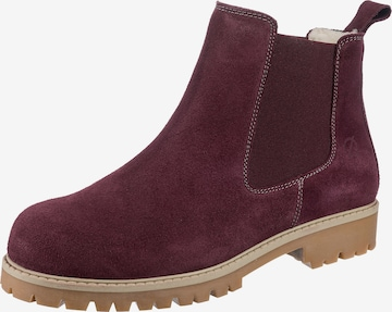 Paul Vesterbro Chelsea Boots in Rot