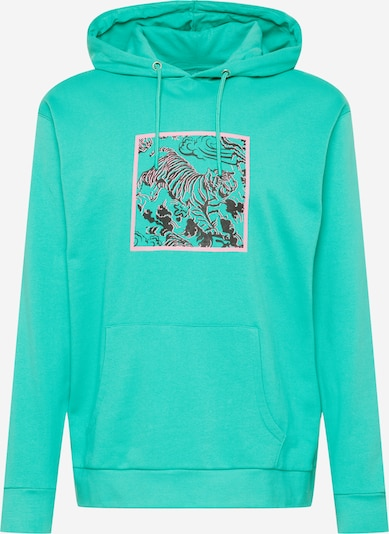 Urban Threads Sweat-shirt en vert / rose / noir, Vue avec produit
