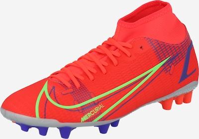 NIKE Voetbalschoen 'Mercurial 8 Academy' in de kleur Neongroen / Neonlila / Oranjerood, Productweergave