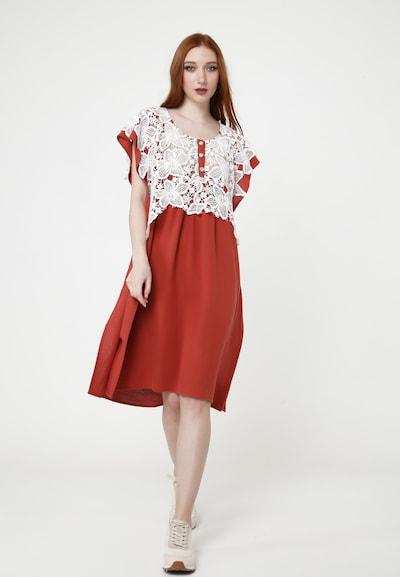 Madam-T Sommerkleid 'VEGNA' in rot / weiß, Modelansicht