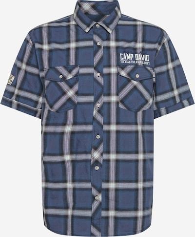 CAMP DAVID Skjorta i nattblå / duvblå / vit, Produktvy