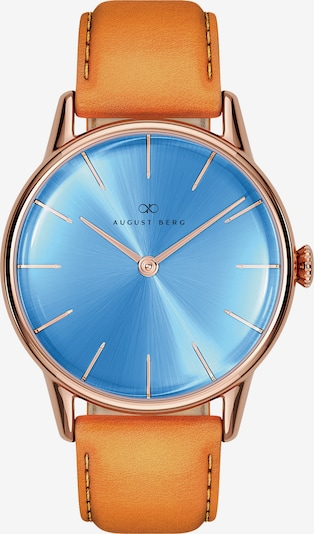 August Berg Uhr 'Serenity Sky Blue Leather 32mm' in blau / cognac, Produktansicht