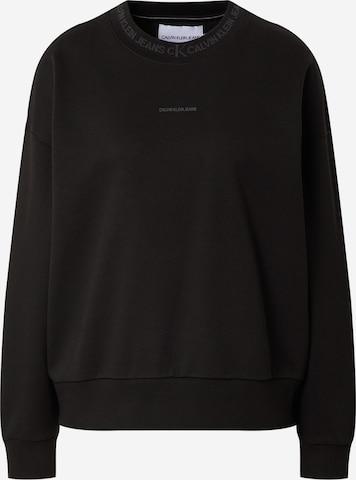 Calvin Klein Jeans Sweatshirt in Schwarz