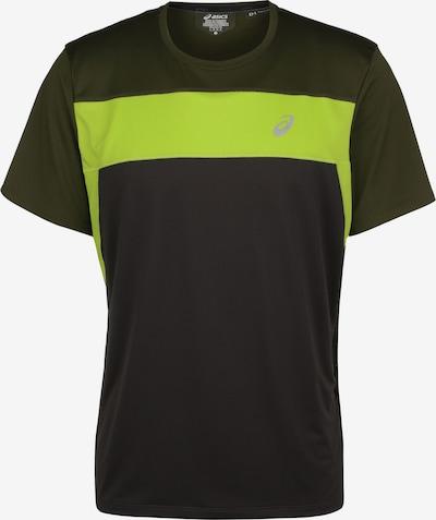 ASICS Laufshirt in dunkelgrau / neongrün, Produktansicht