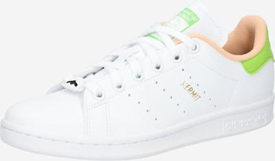 ADIDAS ORIGINALS Zemie brīvā laika apavi 'Stan Smith', krāsa - gaiši zaļš / aprikožu / balts, Preces skats