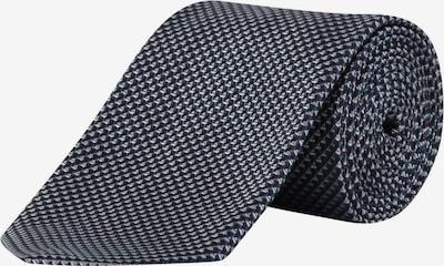 HUGO BOSS Krawatte in dunkelblau / weiß, Produktansicht
